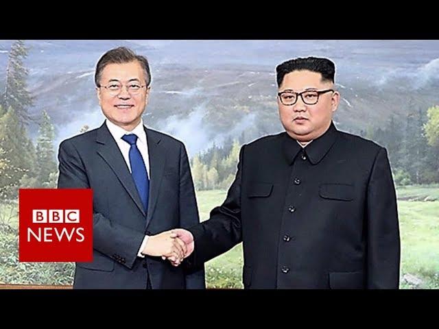 "Korean leaders surprise ""Hollywood"" meeting - BBC News"