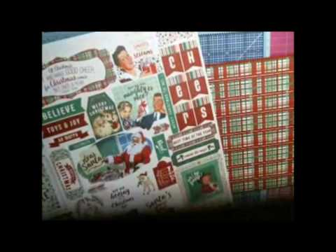 The Night Before Christmas album tutorial / Using Authentique Retro Christmas collection tutorial #2