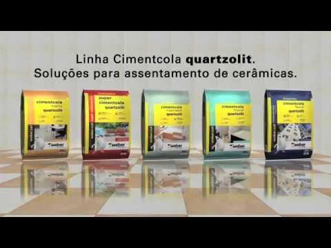 Argamassa cimentcola quartzolit - produtos