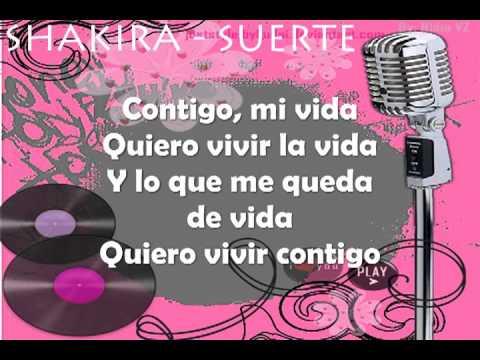 Shakira - Suerte (Letra al Español)
