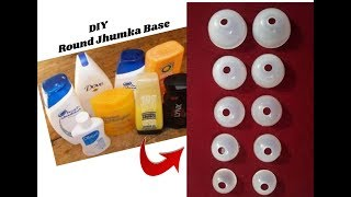 Round jhumka Base making with Empty shampoo bottles