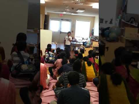 Sai Naveedh - Presentation Video in Level- Mazhalai at Plano Tamil School