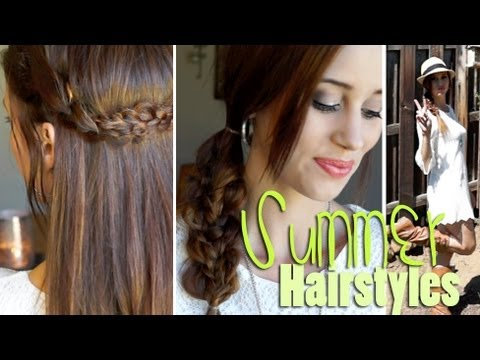 easy hair styles to do 2 easy heatless hairstyles for summer 1739 | hqdefault