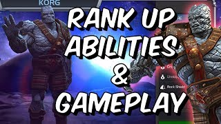 Korg Rank Up, Abilities & Gameplay! - Marvel Contest Of Champions