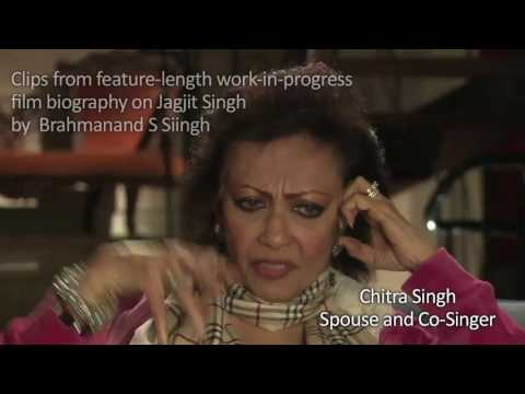 Chitra Singh on Jagjit Singh film biography by Brahmanand S Siingh