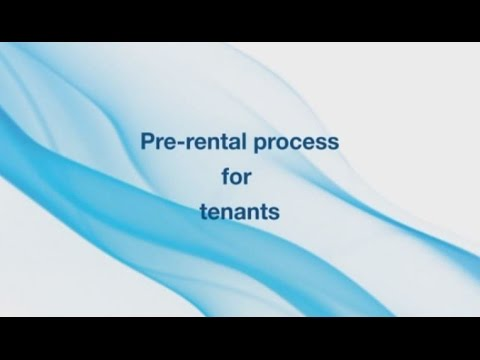 Pre-rental process for tenants