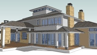Hip House Tutorial. How To Make A Hip Roof Using Sketchup And Trebld
