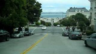 Driving on Divisadero street, San Francisco,CA.
