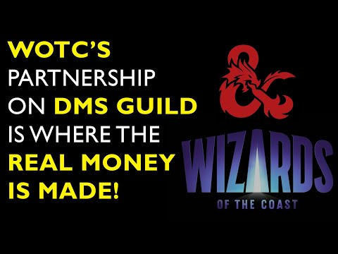 WOTC's partnership on DMs Guild is where the   real money is made!