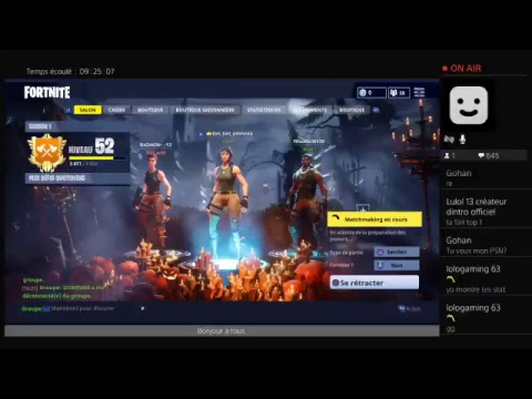 Live [fr] sur fortnite on test la nouvelle arme