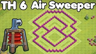 Clash of Clans Town Hall 6 Defense With Air Sweeper (CoC TH6) Farming Base Defense Strategy