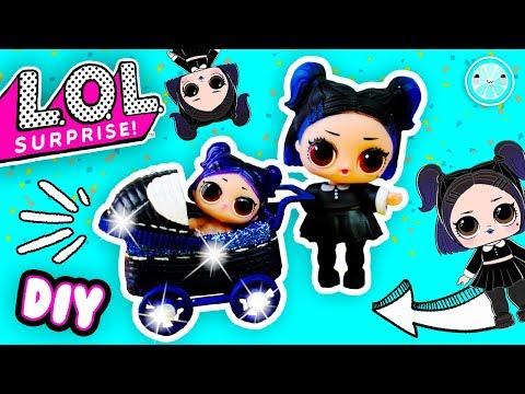 DIY Dusk Lol Surprise Doll Custom Stroller | Glitter Lil Sister Tutorial