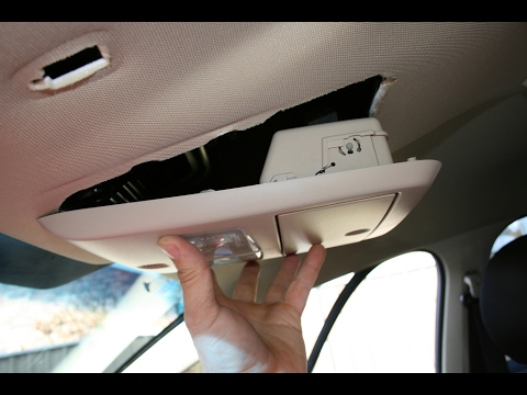 Ford Falcon AU BA BF Sunglasses Console holder removal