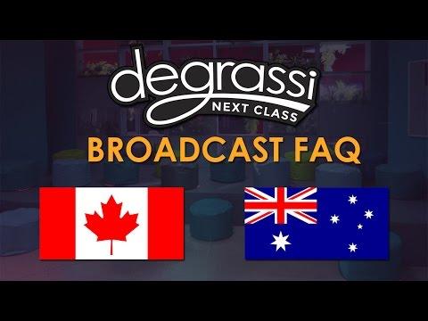 Canada/Australia Broadcast FAQ | Degrassi: Next Class Season 3