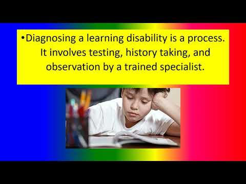 THE DIAGNOSIS AND TESTING PROCESS FOR LEARNING DISABILITIES Speech