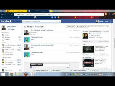Como mandar archivos por INBOX en Facebook.