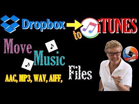 Dropbox To Itunes! Move Music (MP3's, AAC, WAV, AIFF,) Easy Tutorial