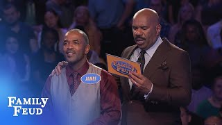 BIG SCORE on his final answer! Enough for $20,000?   Family Feud