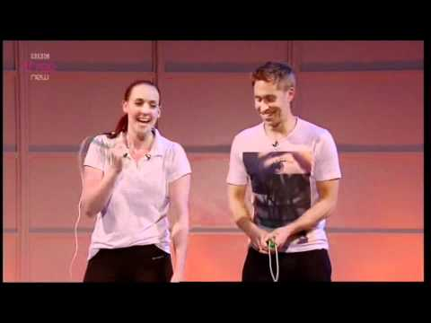 Russell Howard Good News Show Mystery Guest - Rachael Dale from Jump Rope UK