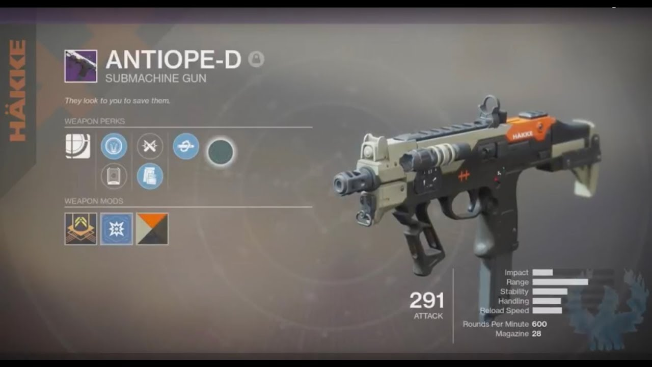 destiny 2 how to get antiope d
