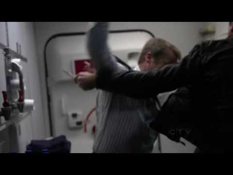 Human Target  Plane Fight Rewind