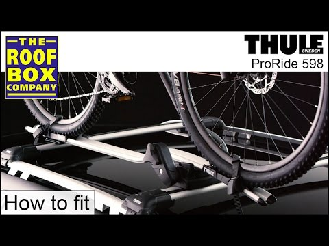 fb684b1765b Thule ProRide 598 roof mounted bike carrier - How to fit - YouTube