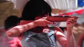 当社射的銃を使用して射的での金麦のコマ-シャル.