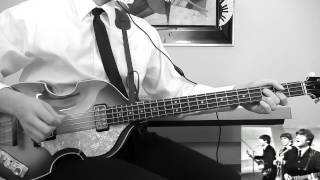 the beatles ed sullivan special she loves you bass cover hofner