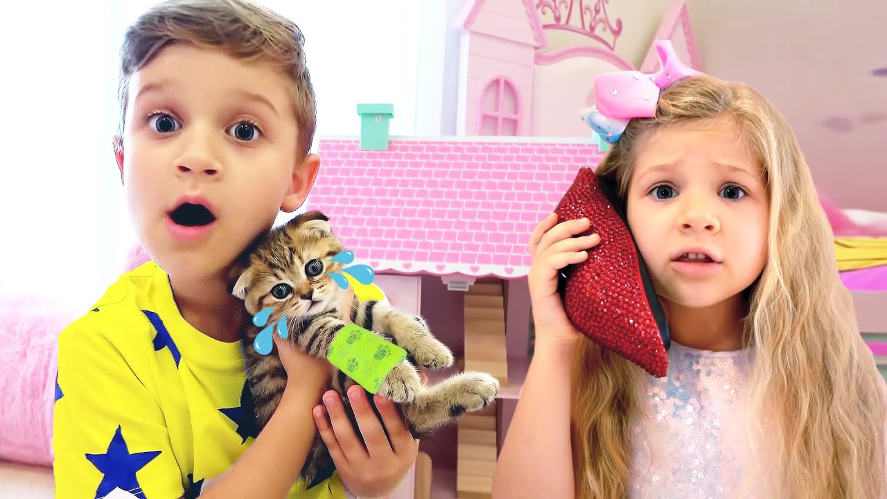 Диана и Рома - истории о котенке и правильном поведении