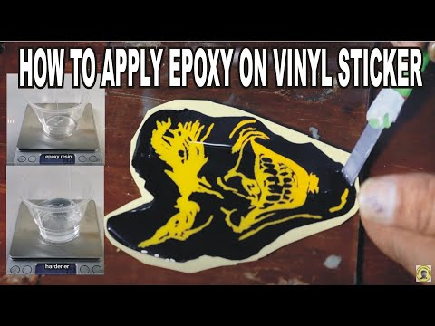how to apply vinyl decals to epoxy stickers