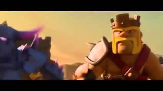 Filme de Clash of Clans com todas as tropas