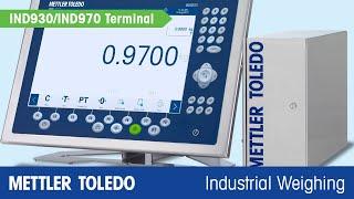 METTLER TOLEDO IND930/IND970 Industrial Terminal