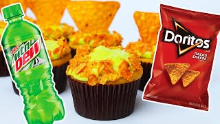 MOUNTAIN DEW DORITOS CUPCAKES - NERDY NUMMIES Thumbnail