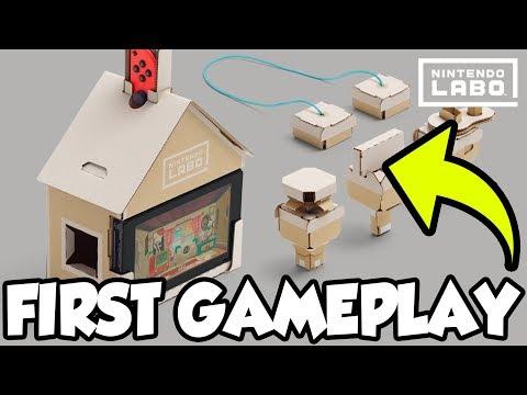 FUZZY CREATURE! | Nintendo Labo Toy-Con House Tour! [🔴LIVE]