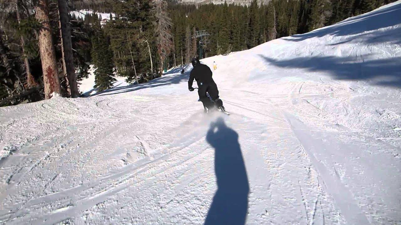 3ski snow bike at brighton ski resort - youtube