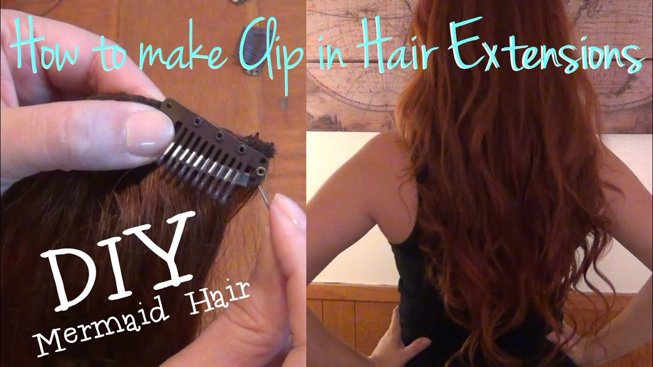 How To Make Clip In Hair Extensions Youtube
