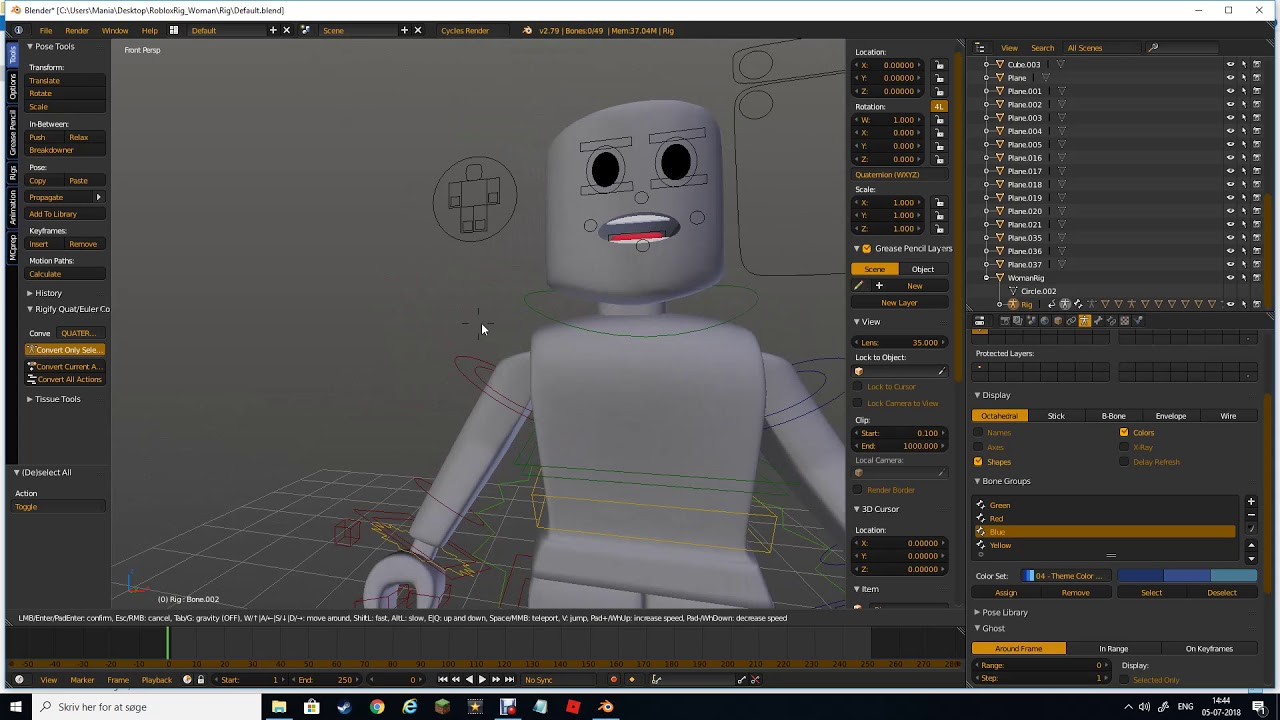 Roblox Woman Rig Blender Youtube