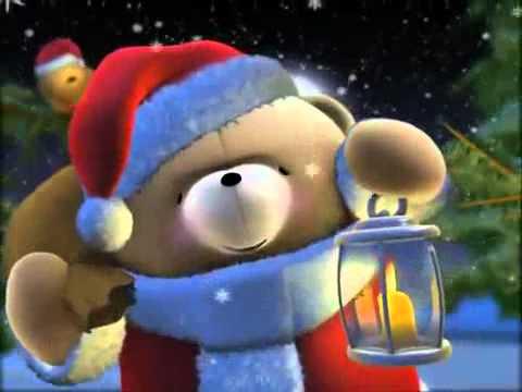cute christmas bear wishing a merry christmas