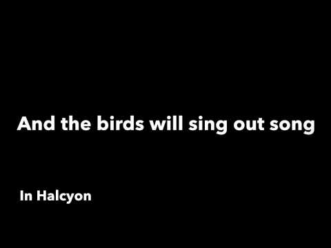 Halcyon -- The Paper Kites (lyric video)