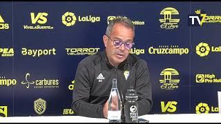 Rueda de prensa de Álvaro Cervera en previa Cádiz-Tenerife (15-02-19)
