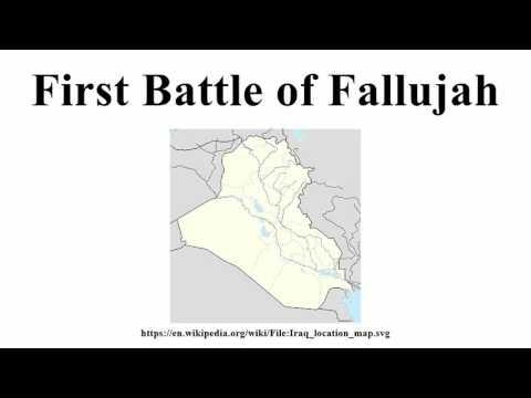 First Battle of Fallujah