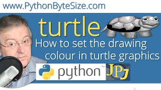 How to set the drawing colour in Python turtle graphics