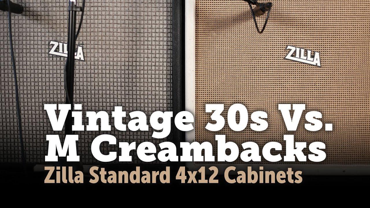 Download Celestion Vintage 30 Vs M creamback shootout in a 4x12!