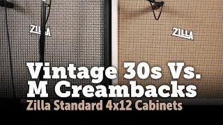 Celestion Vintage 30 Vs M creamback shootout in a 4x12!