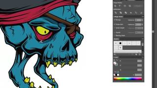 Adobe Illustrator Tutorial  How to Draw a Vector Pirate Skull
