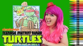Coloring Raphael & Michelangelo Ninja Turtles GIANT Coloring Book | COLORING WITH KiMMi THE CLOWN