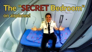 Where do PILOTS+FLIGHT ATTENDANTS sleep on PLANES?Explained by CAPTAIN JOE thumbnail