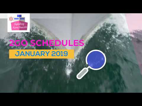 2Go Travel 2019 Schedules for Superferry