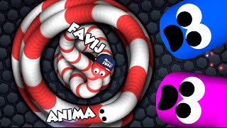 SLITHER.IO - PARTITA EPICA IN GRUPPO!! w/ Anima
