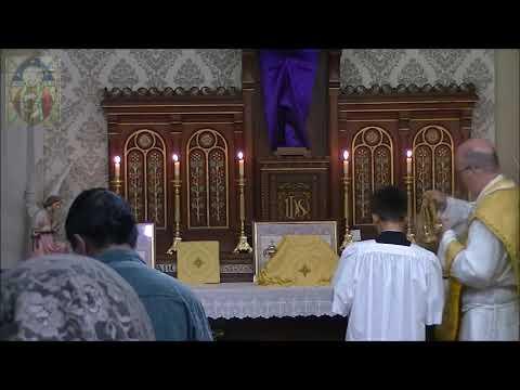 2019-04-18 Maundy Thursday Full Sung Traditional Catholic Mass - SSPX  Resistance